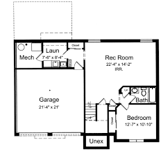 Home Floor Plans With Basement Bi Level Home Plan 39197st Architectural Designs House Plans