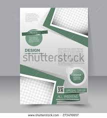 brochure template business flyer annual report stock vector