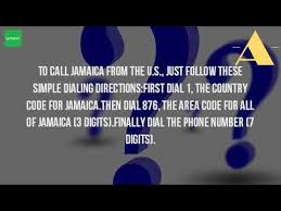 all us area codes how do i call jamaica from us