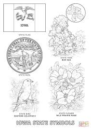 iowa state symbols coloring page free printable coloring pages