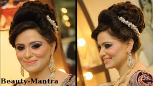 pics of bridal hairstyle wedding makeup mauve smokey look youtube