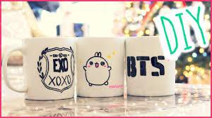 christmas gift idea diy sharpie mugs kpop crafts and