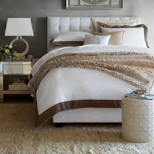 chambers italian washed linen border bedding white williams sonoma