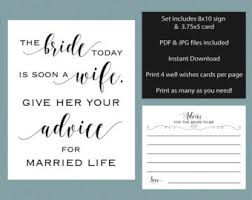Advice To The Bride Cards Bridal Shower Advice Game Cards Retro Printable Shower Game