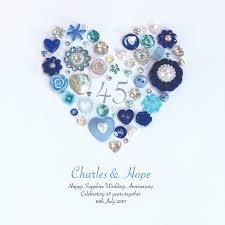 45 year anniversary gift personalised sapphire anniversary framed sapphire wedding
