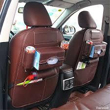 protection siege auto arriere organiseur de siège arrière voiture multi poches voyage en pu cuir