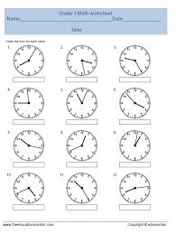 math worksheets time math worksheets for grade 3 free math