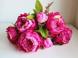 Wholesale Silk Flower Arrangements - aliexpress com buy 7 heads large silk peony bridal bouquet