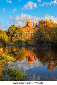 Cathedral Rock Reflections At Sunset Red Rock Crossing Reflections Of Cathedral Rock At Crescent Moon Ranch Sedona