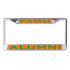 famu alumni license plate frame florida a m famu license plate frame style two