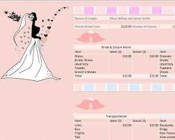 free wedding budget worksheet in printable excel format template99