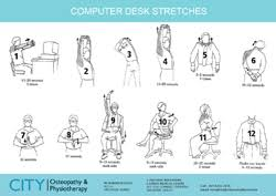Computer Desk Stretches City Osteopathy And Physiotherapy Workplace Health