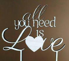 all you need is cake topper i you i like you wooden laser cut cake topper great for