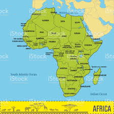 Burundi Africa Map by Map Of Africa With All Countries And Their Capitals Stock Vector