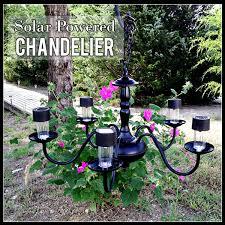 Outdoor Chandelier Diy Solar Powered Chandelier Hometalk