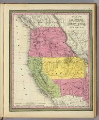 State Map Of New Mexico by California Oregon Utah New Mexico David Rumsey Historical