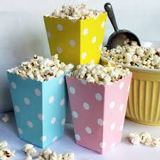 popcorn favors 48pcs mini polka dot popcorn boxes baby blue yellow baby pink