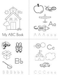 printable blank mini book template my abc book twisty noodle