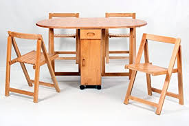 butterfly drop leaf table and chairs butterfly drop leaf table with 4 foldable chairs amazon co uk