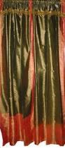 Sari Curtain India Curtains Sari Curtain Red Gold Brocade Silk Sari Saree