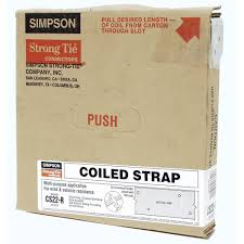 Coil Nails Home Depot by Simpson Strong Tie 25 Ft 22 Gauge Coiled Strap Cs22 R The Home