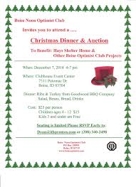 christmas dinner u0026 auction treasure valley parents guide