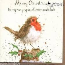 wrendale designs christmas card new robin merry christmas special