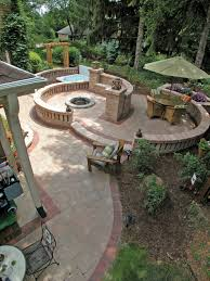 patio landscape design concrete driveway pavers land design mn