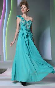 chiffon one shoulder floral lace tilt green color maternity prom