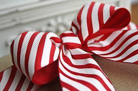 striped grosgrain ribbon christmas diagonal stripe grosgrain ribbon by the ribbon reel