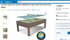 eastpoint sports table tennis table price is 300 00 eastpoint sports 84 outdoor billiard pool table