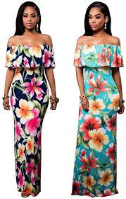amazon com elegant vintage flowers off shoulder ruffle plain