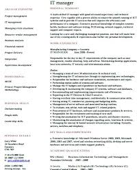 sales manager resume template here are director of it resume it program manager resume template