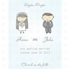 Invitation Card Marriage Wedding Invitation Card With Newly Married Couple Vector Image