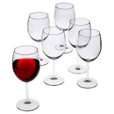 ikea svalka red wine glass clear glass 6 pack size 30 cl