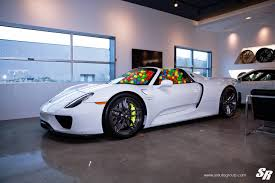 porsche 918 spyder white photo of the day porsche 918 spyder filled with playroom balls