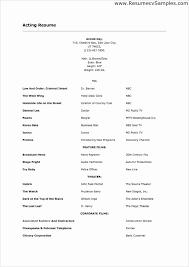 beginner acting sample resume 13 la example nardellidesign com