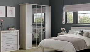 5 Door Wardrobe Bedroom Furniture Rio Bi Fold 5 Door Wardrobe 3 Mirrors Bensons For Beds