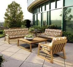 furniture patio design using teak outdoor furniture plus deck and
