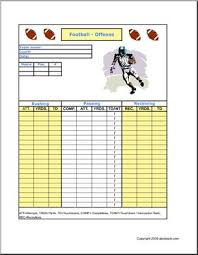 stat sheet football offense abcteach
