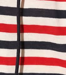 Flag Red White Blue Horizontal Stripes Moncler Striped Cotton Top Blue Red White Women Rkfcxxxo 405