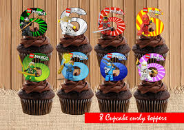 ninjago cake toppers lego ninjago cupcake toppers lego birthday party lego cupcake