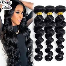 pics of loose wave hair brazilian virgin hair loose wave 3 bundles unprocessed virgin
