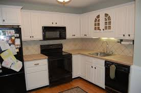 Popular Kitchen Backsplash Kitchen Cabinets White Cabinets With Dark Trim Liberty Cabinet