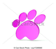 stock illustration paw print pink icon logo paw print gold