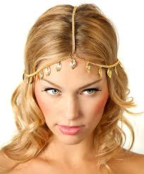 gold headpiece gold grecian chain headpiece jewelry boho headpiece