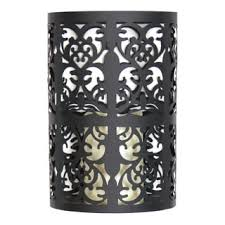Flameless Candle Wall Sconce Black Metal Wall Sconce With Flameless Led Candle And Timer Free