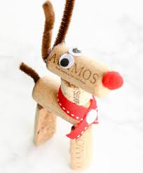 make a wine cork reindeer ornament with these easy steps modern
