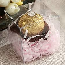 wedding gift boxes uk clear pvc plastic square chocolate candy gift boxes wedding party
