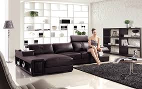 Modern Brown Leather Sofa by Mini Modern Brown Leather Sectional Sofa